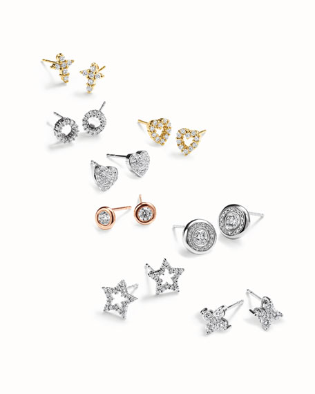 Diamond Circle Mini Studs