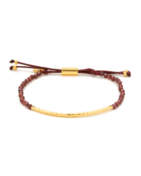 Power Gemstones Golden Garnet Beaded Bracelet