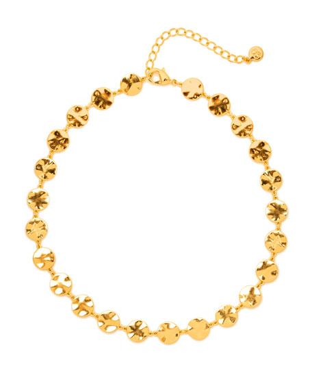 Chloe Double Pendant Adjustable Necklace, 18, Gold