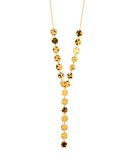 Chloe Coin Lariat Necklace