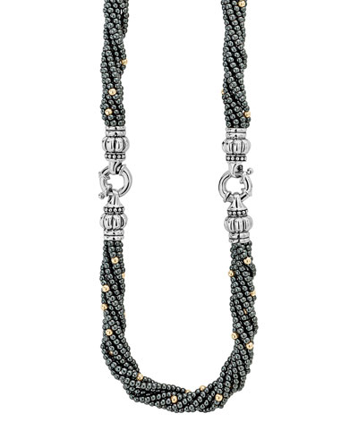 Caviar Icon Hematite Bracelet & Necklace