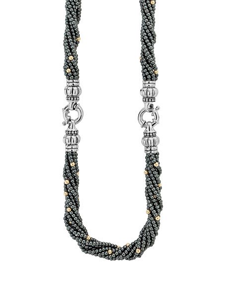 Lagos Caviar Icon Hematite Bracelet & Necklace