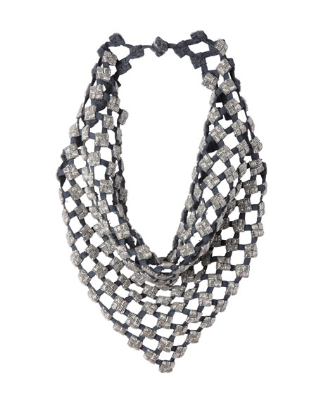 Leah Crystal Bandana Necklace