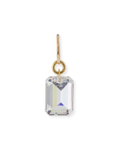 Jumbo Crystal Drilled Stone Single Earring