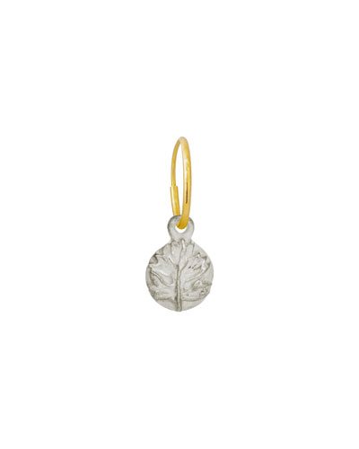 Tiny Acanthus Coin Single Earring