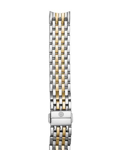 Two-Tone 18mm Seven-Link Bracelet Strap