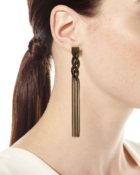 Cordelia Fringe Chain Earrings