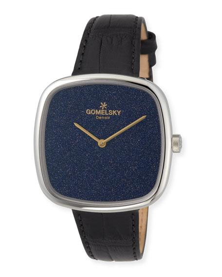 The Eppie 40mm Sandstone Watch with Alligator Strap