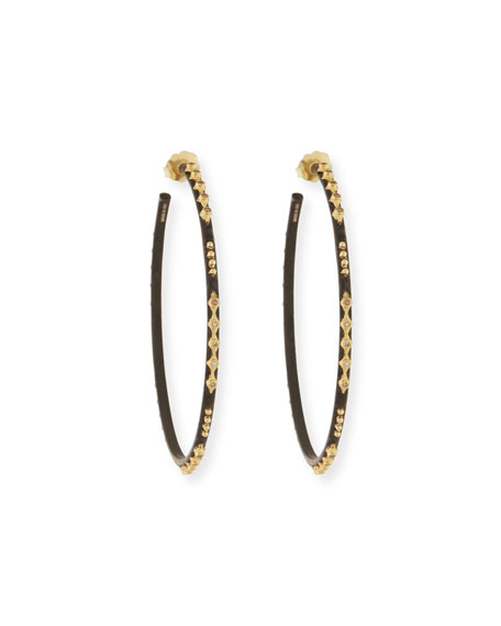 Old World Crivelli Hoop Earrings with Diamonds