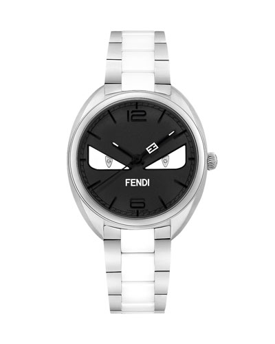 Stainless Steel Bracelet Watch with Monster Eyes