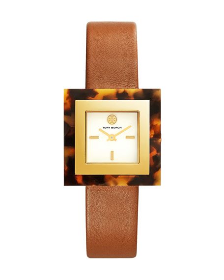 The Sedgwick Leather Strap Watch, Brown/Tortoiseshell