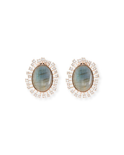 Crystal Statement Button Earrings