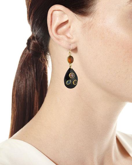 Ukali Dark Horn Drop Earrings