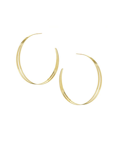 Large Double Flat Hoop Earrings