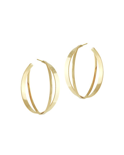 Small Twist Flat Hoop Earrings