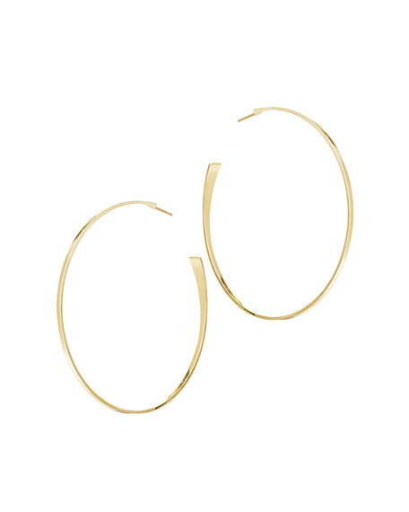 14k Gold Medium Curve Hoop Earrings