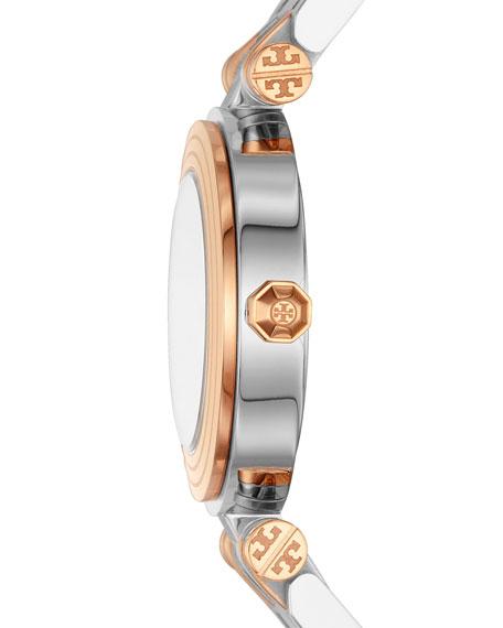 The Classic T Two-Tone Bracelet Watch, Silvertone/Rose-Golden