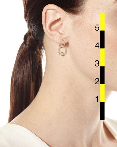 Double Hoop Single Earring with Crystal