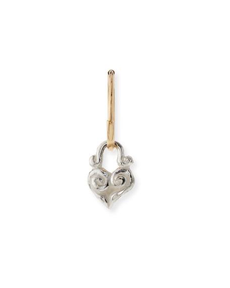 Tiny Maori Heart Single Earring