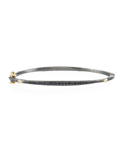 Old World Bangle with Black Sapphires & Diamonds