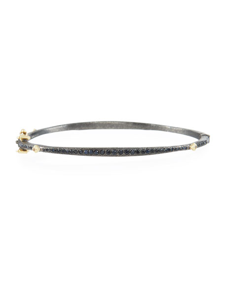 Armenta Old World Bangle with Black Sapphires &