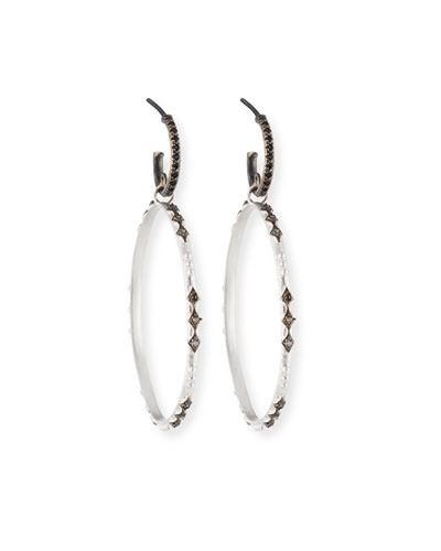 New World Eternity Hoop Drop Earrings with Diamonds