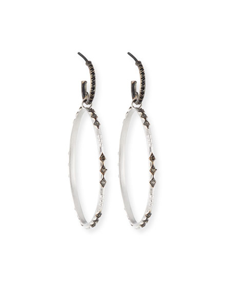 Armenta New World Eternity Hoop Drop Earrings with