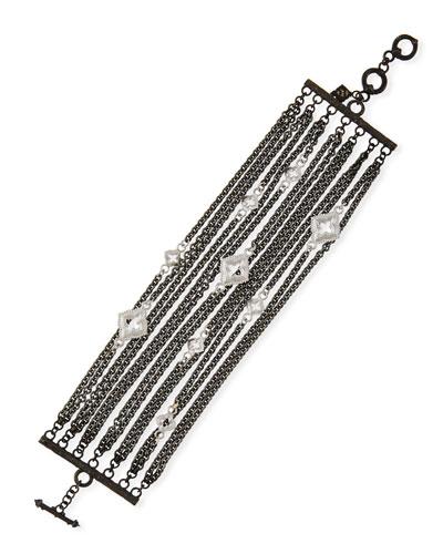 New World Multi-Strand Bracelet with Black Spinel