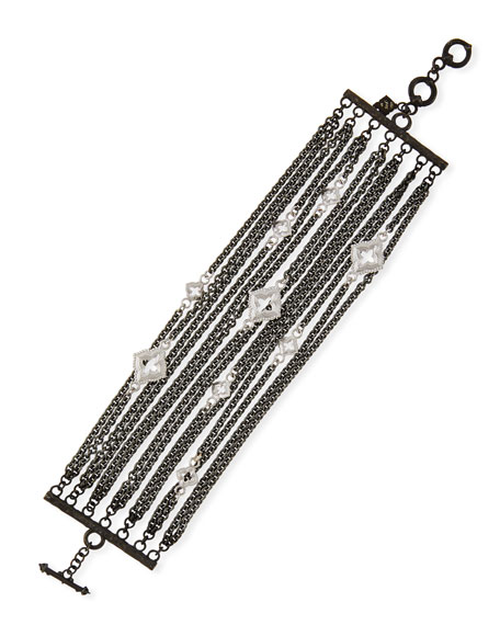 Armenta New World Multi-Strand Bracelet with Black Spinel