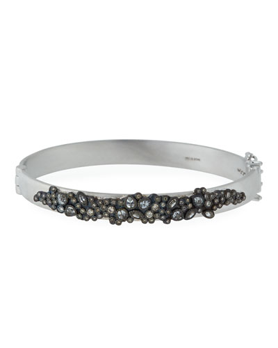 New World Diamond & White Sapphire Cluster Bracelet