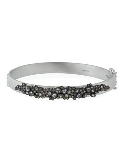 New World Diamond & White Sapphire Cluster Bracelet