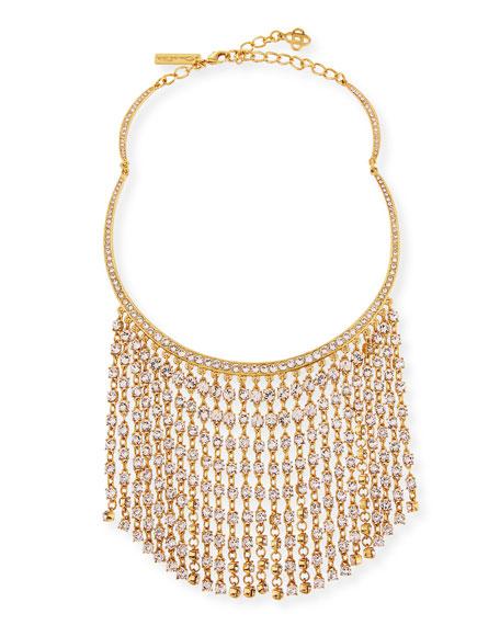Oscar de la Renta Short Crystal Raindrop Necklace