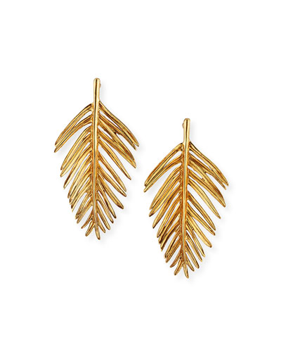 Palm Leaf Drop Earrings