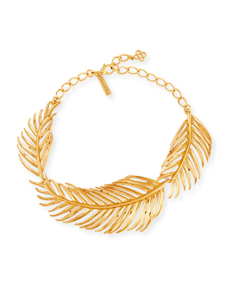 Palm Leaf Collar Necklace