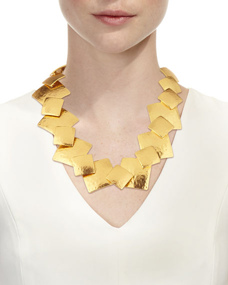 Geo Collage Statement Necklace