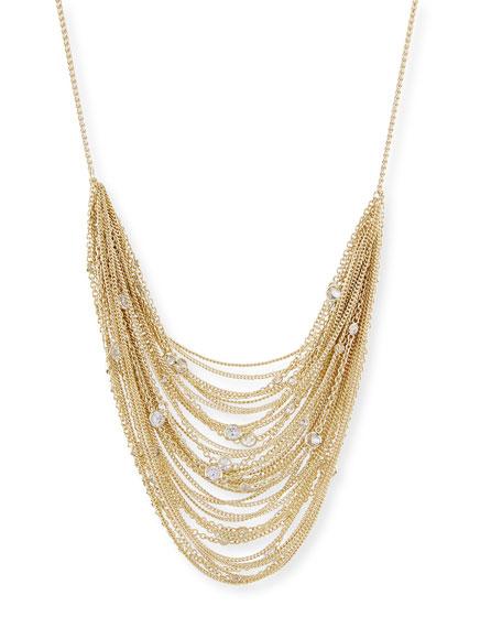 Kendra Scott Anastasia Golden Multi-Row Chain Necklace