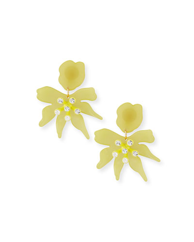 Daffodil Statement Clip-On Earrings