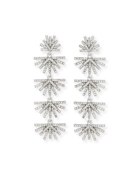 Lele Sadoughi Crystal Palm Drop Earrings Neiman Marcus