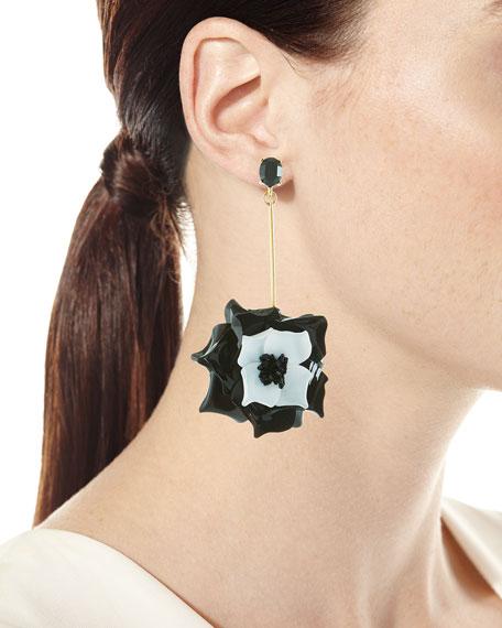 Petunia Long Floral Drop Earrings