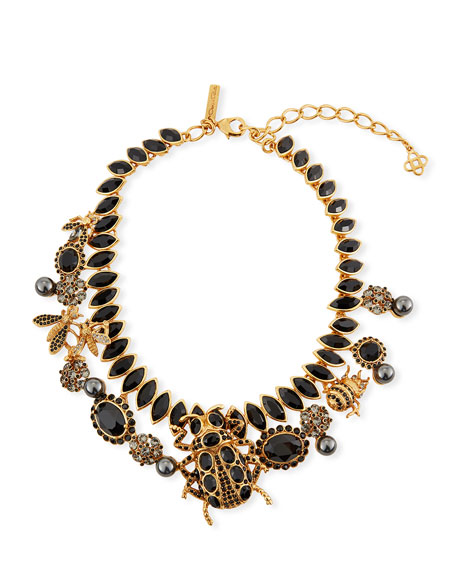 Oscar de la Renta Wildlife Statement Necklace