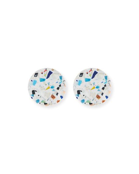 Mosaic Button Earrings