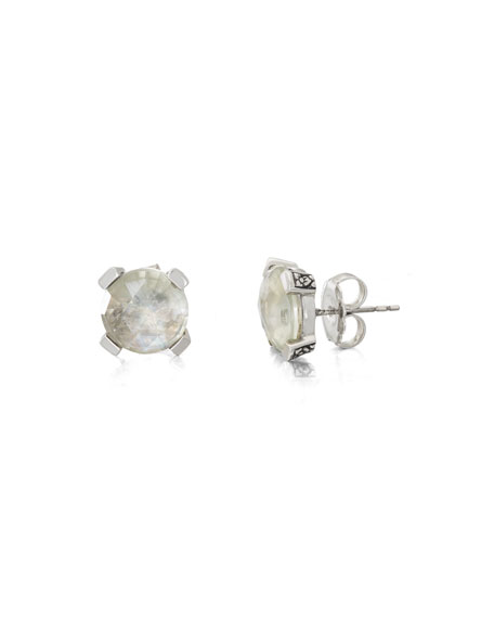Stephen Dweck Faceted Green Amethyst & Mother-of-Pearl Doublet