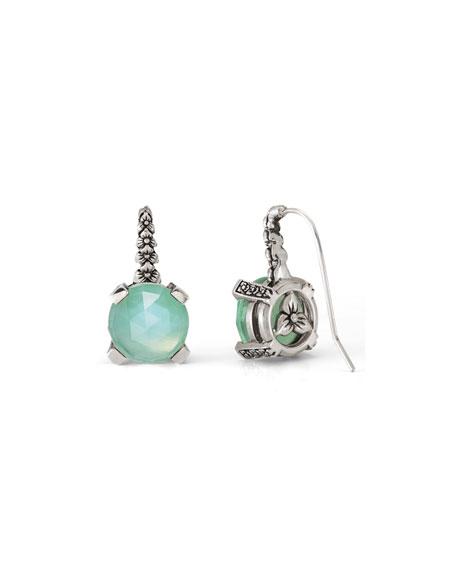 Green Quartz Floral Drop Earrings