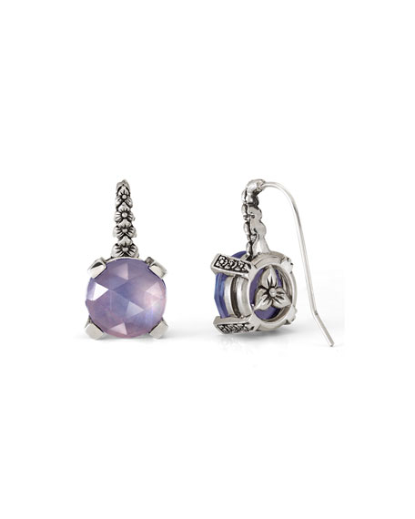 Stephen Dweck Faceted Amethyst Quartz Drop Earrings