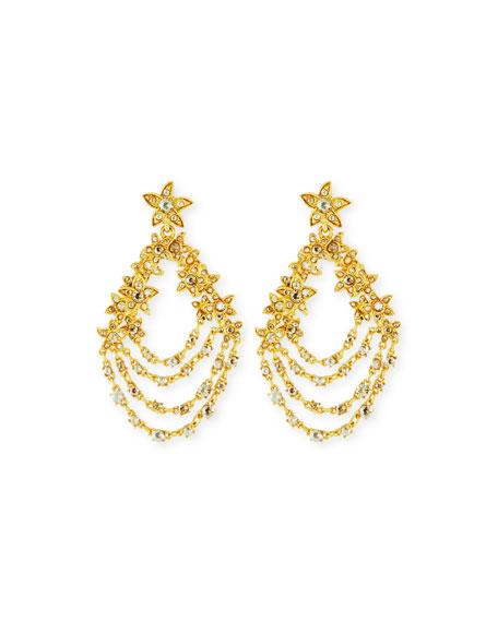 Golden Starfish Chain Clip-On Earrings