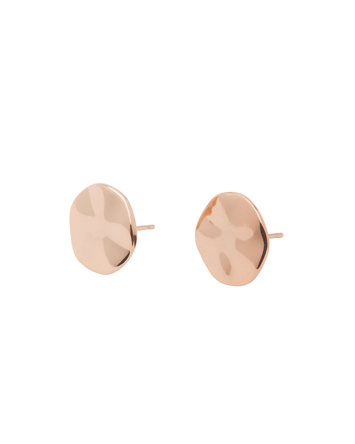 Chloe Hammered Disc Stud Earrings