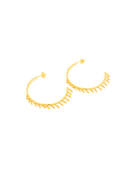 Sol Beaded Hoop Earrings