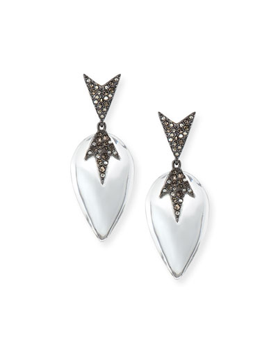Spiky Pavé Encrusted Lucite Earrings