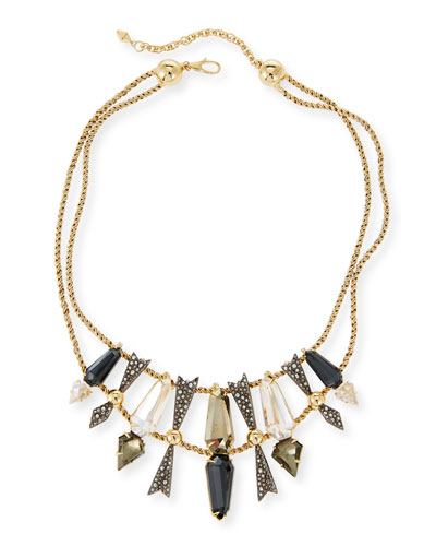 Two Tier Mixed Crystal Statement Necklace