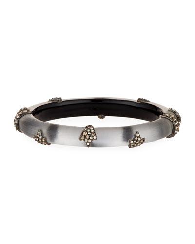 Skinny Studded Hinge Bracelet, Gray